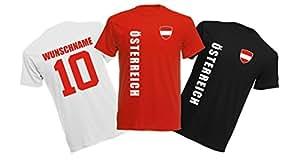 11 x Kinder T-Shirt Trikot Look – MINI EM 2016 – Österreich