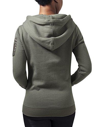 Urban Classics Ladies Bomber Hoody, Sweat-Shirt àCapuche Femme Vert - Grün (Olive 176)