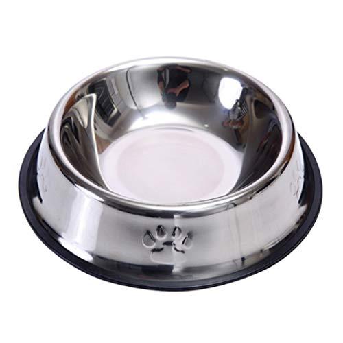 Pet Kostüm Billig - Gecheng ausreichend Edelstahl Pet Dog Feeder Food Water Bowl Cup Tour Feeding Dish UK(None S A)