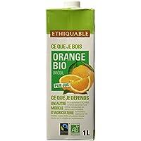 Ethiquable Pur Jus Orange Brésil Bio et Équitable 1 L Brique Max Havelaar - Lot de 5