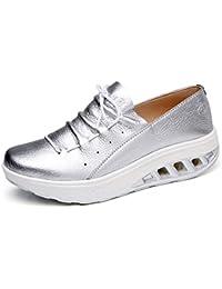 0d9e5a27729b6e Solshine Damen Leder Plateau Sneakers Shape up Fitness Walkmaxx Turnschuhe