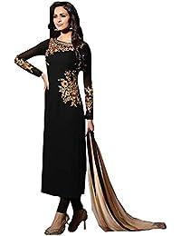 Special Mega Sale Festival Offer C&H Black Georgette Semi-Stitched Salwar Suits
