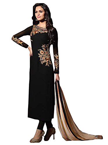 Special Mega Sale Festival Offer C&H Black Georgette Semi-Stitched Salwar Suits