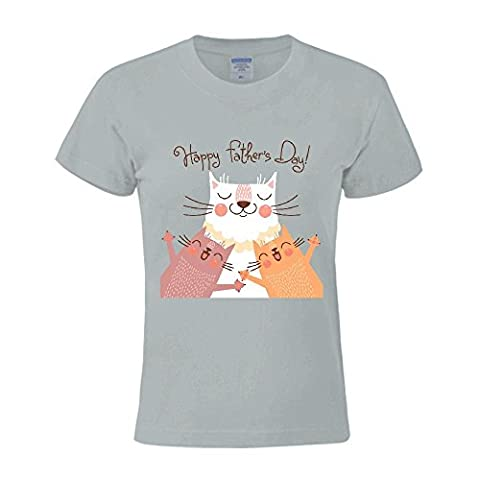 HuenK Evanos(TM) Sweet Card For Fathers Day Femme's 2016 Round Tee Shirts?X-Large?