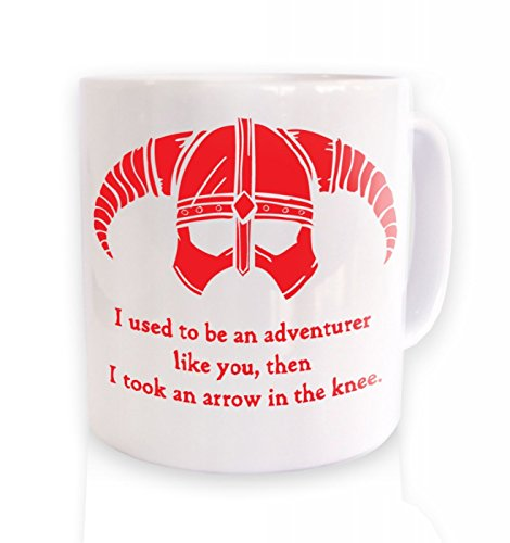 Arrow In The Knee (red Detail) Mug by Geeky Mugs By Big Mouth