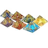 Reiki heilende Energie geladen Kristall Chakra Energetische Gravur Pyramid Set (Wunderschön als Geschenk verpackt) preisvergleich bei billige-tabletten.eu