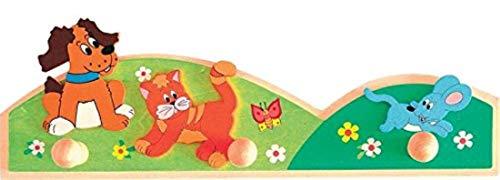 Woodyland 93045 - Kinder Garderobe, Tiere, aus Holz