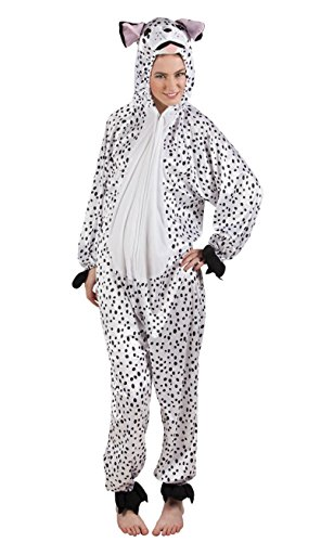 Boland 88034 Erwachsenenkostüm Dalmatiner aus Plüsch, (Kostüm Mensch Hund)
