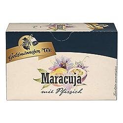 Goldmännchen Tee Maracuja mit Pfirsich, Früchtetee, 20 einzeln versiegelte Teebeutel