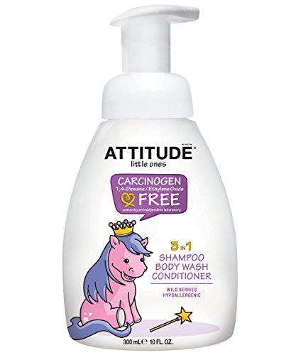 Kleinen, 3-in-1 Shampoo, Duschgel, Haarspülung, Waldbeeren - ATTITUDE