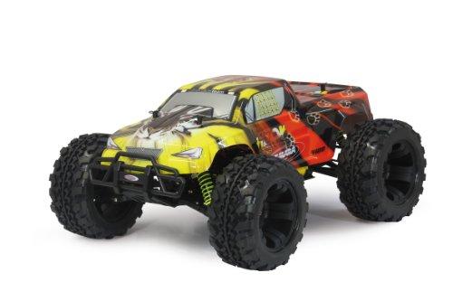 Jamara 503851 - Tiger Monstertruck 1:10 4WD NiMh 2.4GHz - Allrad, Elektroantrieb, Akku, 35Kmh, Aluchassis, spritzwasserfest, Öldruckstoßdämpfer, Kugellager, Fahrwerk einstellbar, fahrfertig - 9