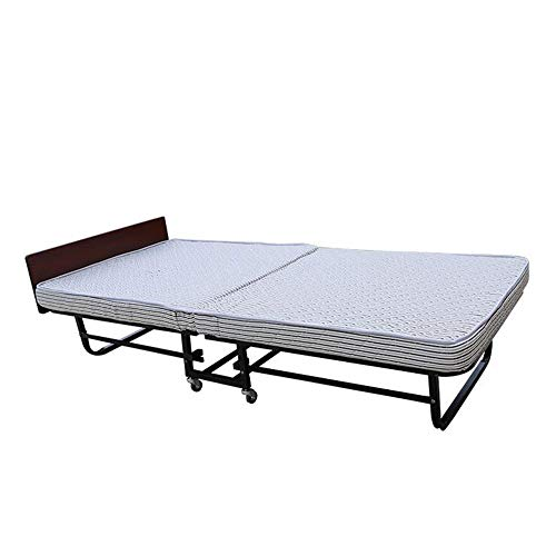 Breite Futon-rahmen (DZH*AA Einzelklappbett mit bequemer Sprungmatratze 195 * 95 cm)