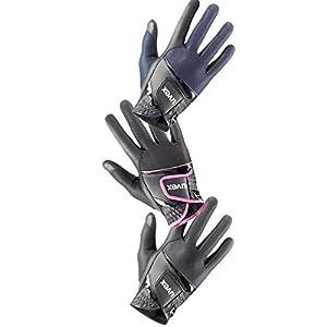 Uvex Sumair Reithandschuh Black-Blue absolut weich anpassungsfähig flexibel atmungsaktiv