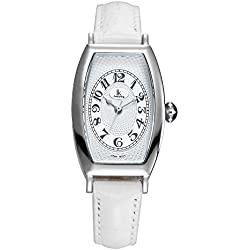 Fashion Simple Creative Rectangle Leather Strap Quartz Women Wrist Watch,White