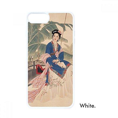 DIYthinker Blatt Blume Weiß, Blau, Rosa Kleidung Weiß Apple-phonecase Abdeckung Fall-Geschenk - Apple-weiß-kleidung