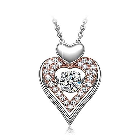 Dancing Heart Liebeserklärung Kette Damen Silber 925 Schmuck weihnachten weihnachtsgeschenk geschenke frauen geburtstagsgeschenke valentinstag valentinstagsgeschenk muttertagsgeschenk muttertag