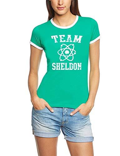 Coole-Fun-T-Shirts T-Shirt Team Sheldon - Big Bang Theory ! Vintage Rigi, green, S, 10746_green_RIGI_GR.S -