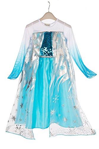 Imagen de elsa & anna® princesa disfraz traje parte las niñas vestido girls princess fancy dress es dress305 sep 3 4 años, es sep305