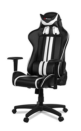 41IrN9rIqAL - Arozzi Gaming Silla Mezzo Negro/Blanco