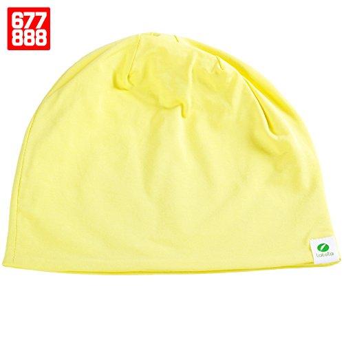FQG*L'inverno hat uomini Baotou sottile, sciarpa cap street dance marea di puro cotone cotone chemioterapia Kit invernale , e il giallo