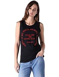 Diesel T-SID TOP Damen Shirt Schwarz