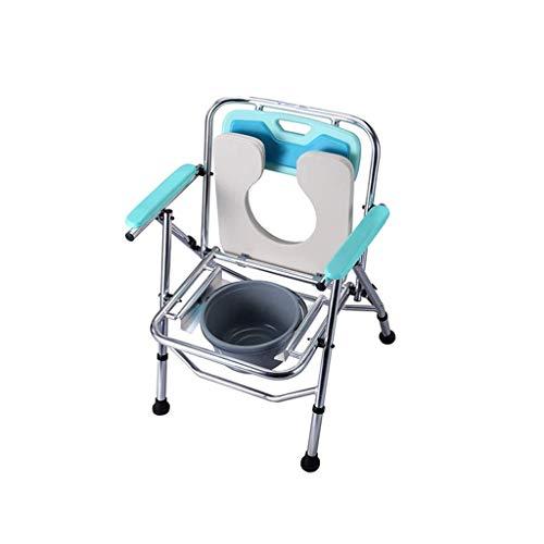 SXXHMTY Toilettenstuhl,Deluxe Mobile Toilettenstuhl,tragbare Armlehnen Bad Stuhl Verschleißfest -