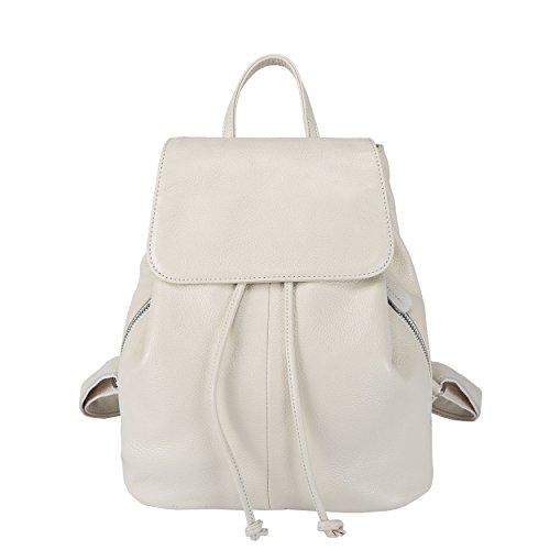 Leder Multi-tasche Rucksack (BOYATU Damen Leder Rucksäcke Damenmode Wasserdichte Rucksack Travel School Umhängetasche)