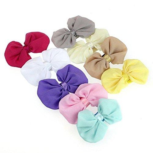 Jmitha bambino fascia fasce di fiore della neonata cerchietto elastico accessori per capelli a fiori (a)