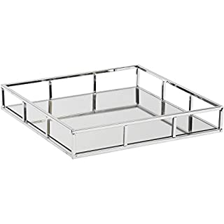 Artisanti Ampleforth Chrome Plated Square Mirror Tray