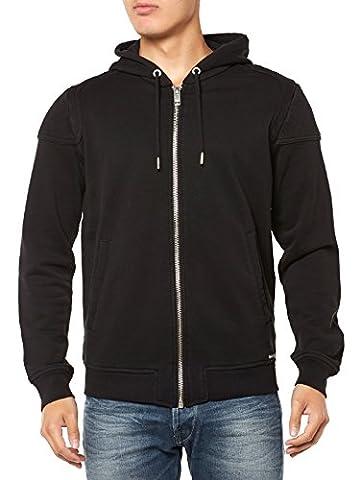 NEW MENS DIESEL HOODY S-YAMA BLACK - Zipped Hoodie Sweatshirt Tshirt-M