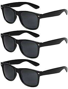 X-CRUZE® Gafas de sol nerd retro vintage unisex - 45 colores/modelos a elegir