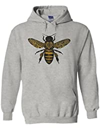 Bee Drawing Moth Insect Tattoo Novelty White Femme Homme Men Women Unisex Sweat à Capuche Hooded Sweatshirt Hoodie