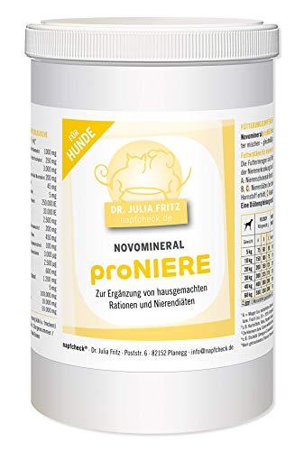 napfcheck Novomineral proNIERE - Mineralstoffe, Vitamine und Aminosäuren für nierenkranke Hunde und hausgemachte Rationen - 1000 g