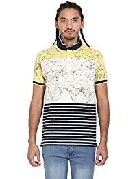 Wear Your Mind Yellow Polyester Polo Tshirt For Men WP318.2