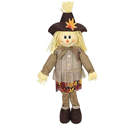 SIDCO Vogelscheuche Strohpuppe Herbst Deko Halloween Dekoration Gartendeko Mann (Vogelscheuche Für Halloween)