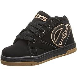 Heelys Propel 2.0 770255, Chaussures avec 1 Roue Garçon, Noir/Marron, 40 2/3 EU, Noir (Black / Gum), 43 EU