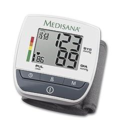 Medisana BW 310 Handgelenk- Blutdruckmessgerät 51070, mit Arrhythmie-Anzeige, mit WHO Ampel-Farbskala und leicht lesbarem Display, für eine präzise Blutdruckmessung