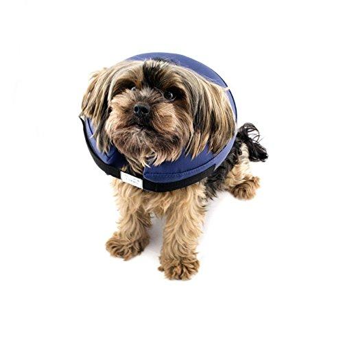 LABT Halskrause Hund Katzen XS aufblasbar Weich Schutzkragen Soft Hundehalskrause Halskragen Hundekragen Leckschutz 12-16,5 cm