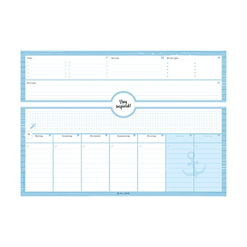Schreibtischunterlage in blau aus Papier mit 50 Blatt zum Abreißen – Hochwertige Schreibtischunterlage im Format DIN A3: Für Kinder und Erwachsene – ... 2018 – Stay Inspired by Lisa Wirth