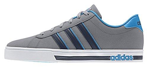 adidas Daily Team, Chaussures de Sport Homme, Bleu, EU Multicolore - (Gris / Noir / Bleu (Gris / Negbas / Azusol))