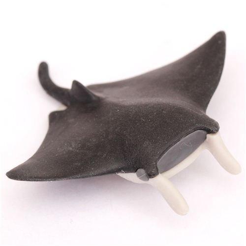 Goma borrar forma pez manta raya negra Iwako