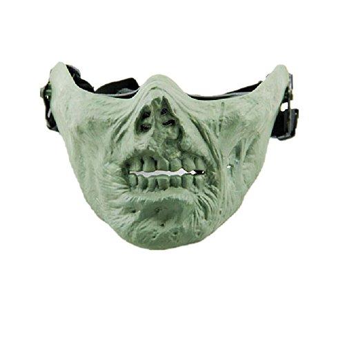 FengYun M05 Neue Zombie Horror CS Taktische Schutz Neue Call of Duty Reiten Maske Tanz Prop Zombie Grün (Call Of Duty Kostüm)