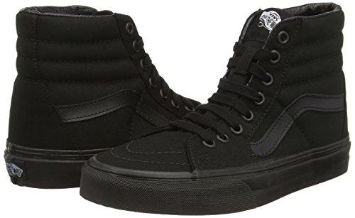 Vans - U Sk8-Hi, Alte Scarpe Da Ginnastica, Unisex Nero (Black/Black/Black)