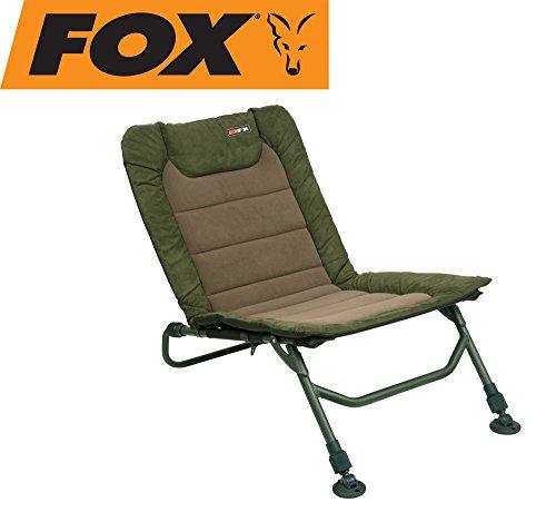 Fox Combo Stuhl - Angelstuhl zum Raubfisch, Waller & Karpfenangeln, Anglerstuhl, Stuhl zum Angeln, Karpfenstuhl, Liegestuhl