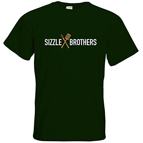 getshirts - SizzleBrothers Merchandise Shop - T-Shirt - SizzleBrothers - Grillen - Logo Bottle Green