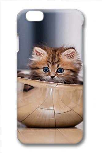 Cover iPhone 6/6s for adults,custom-made Cover iPhone6/6s case,with 3D fashion design Kitty In A Bowl (Kitty Bowl)