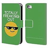 Head Case Designs Offizielle David Olenick Farbige Gefrorene Gläser Gefühle Brieftasche Handyhülle aus Leder für iPhone 4 / iPhone 4S