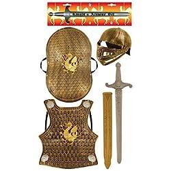 Child's Medieval Knight Armour Set - Helmet, Sword, Shield, Breast Plate Available in Bronze Silver (accesorio de disfraz)