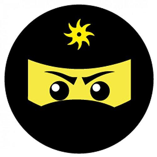 - Ninja Icon, Gelb Poster-Sticker Tattoo Aufkleber 9 x 9 cm ()