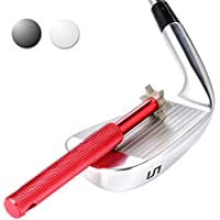 Golf Club Groove Sharpener. Golf club cleaner and club repair. Golf accessory improves backspin & ball control on all your wedges and irons.